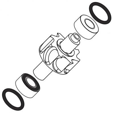 Роторная группа к турбинам TA 98 CLED, TA 98 C, TA 98 CLM, TA 98 CM со стальными подшипниками