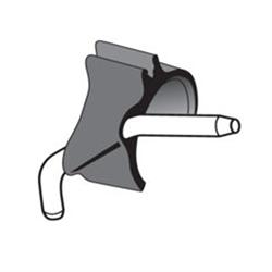Черный зажим для внешнего спрея с держателем трубки для системы Киршнер/Майер